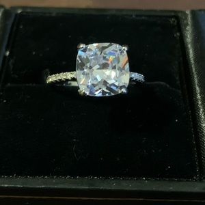 STUNNING Large CZ .925 Sterling Silver Ring
